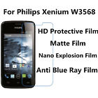 3pcs For Philips Xenium W3568 High Clear Matte Nano Explosion Anti Blue Ray Film