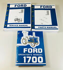 FORD 1700 TRACTOR SERVICE PARTS OPERATORS MANUAL OWNERS REPAIR CATALOG SET