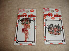 Lot of 2 Betty Boop Crystal Appliqu Cell Phone Ipod Bling Things Sticker Decal