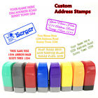 custom pre self inking office company personalized return address rubber stamp