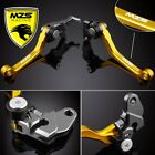 MZS Pivot Clutch Brake Levers For Suzuki RMX 250S DR250R RM 85 RM125/RM250 Gold