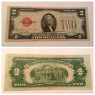 VINTAGE $2 1928-G UNITED STATES NOTE TWO DOLLAR JEFFERSON RED SEAL DOLLARS USN