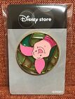 Rare! Disney store Pin Japan Piglet Winnie the Pooh Stained Glass Circle Pin