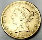 1881 $5 Gold Liberty Head-Extremely Fine-Free USA Shipping-XF