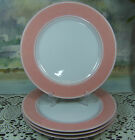 4 Fitz and Floyd RONDELET PINK DINNER PLATES 10-1/4