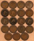 GREAT BRITAIN -- NINETEEN GEORGE V PENNIES, EACH WITH A DIFFERENT DATE, Item 18