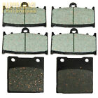 Front Rear Carbon Brake Pads For Suzuki GSXR GSX-R 750 2000 2001 2002 2003