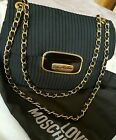 AUTHENTIC LOVE MOSCHINO CHAIN HANDLE SHOULDER HANDBAG