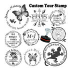 custom logo self inking personalized family business return address rubber stamp