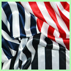 10 Yards Black  White Stripe Satin Fabric 60 Wide Made in USA Seller