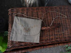 Lovely Antique 1920's  Linen Envelope Purse Bag Flower Embroidery Attic Find