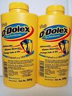 2 0-DOLEX YELLOW DEODORANT TALCUM POWDER NET WT 10.6 OZ EACH  300 GR