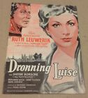 """Königin Luise"" Dieter Borsche Leuwerik 1957 Danish Original Vtg Movie Program"