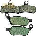Front Rear Carbon Brake Pads For 2008-2017 Harley FLSTC Heritage Softail Classic