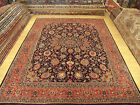 9 x 13 Hand Knotted 1940s Antique Persian Isfahan Soft Wool Rug _Great Condition