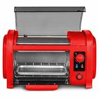 Hot Dog Roller Toaster Oven Combo Grill Cooker Sausage Bread Snack Bun Kitchen