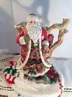 FITZ & FLOYD CHRISTMAS LODGE SANTA PITCHER / WOODSY/WITH OWL