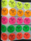 250 Thank You For Your Purchase Neon Labels Stickers Starburst Fluorescent 2