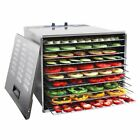WYZworks 1200W Stainless Steel Food Dehydrator with 10 Trays and Temperature