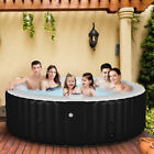 Goplus Portable Inflatable Bubble Massage Spa Hot Tub 6 Person Relaxing Outdoor