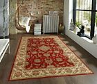 Dark Beige Brown Red Traditional Persian Floral Faux Silk Rug Carpet 3x5 New
