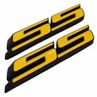2x Ss Letter Grille Fender Trunk Emblem Badge For Chevy Camaro Impala 2010-2015