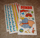 Sandylion Disney Sticker Lot of Three Dumbo Icon w Two Border Sheets