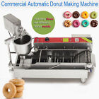 DHL Shipping 6W automatic electric Stainless Steel Donut Maker With 3 Mould