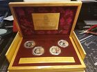 One Set $10 Yuan 2008 Beijing Olympics games 4 Silver Coins w/ box