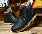 Mens Leather Winter Warm Boots Men Winter Boots Ankle Boots Mens Snow Shoes