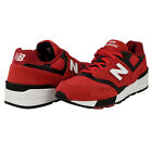 New Balance ML597GSB Mens Red White Lace Up Athletic Running Training Shoes