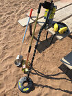 White's BeachHunter ID Metal Detector with two sand scoops