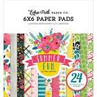 Echo Park Double Sided Paper Pad 6X6 24 Pkg Summer Fun 653341340498
