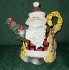 Fitz & Floyd Classics Gregorian Collection Teapot Christmas Santa w/ Box
