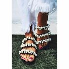 ZARA PEARLY STRAPPY SANDALS FLATS MULES WITH THREE STRAPS  PEARLS REF2600 201