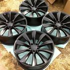 4 NEW 21 OEM TESLA MODEL S P90D BLACK ONYX TURBINE WHEELS RIMS CAPS TPMS P85