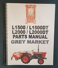 Kubota L1500, 1500DT, 2000, 2000DT Parts Manual PRINTED (Japanese / English)