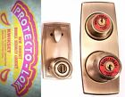 MID-CENTURY FRONT DOOR KNOB ENTRY SET KWIKSET UNUSED COMPLETE IN BOX RIGHT HAND