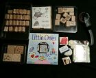 Stampin Up Rubber Stamp lot with extras Everyday phrases loads of love