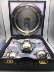 Vintage Empire Crafts Silver Plate Tea Coffee Set COMPLETE Silk Lined Chest 114