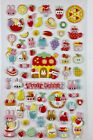 Cute Rabbit Puffy Sticker Sheet Kawaii Stationary Scrapbooking Diary Planner