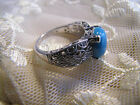 QVC Tacori Diamonique Turquoise Filigree Ring: Rare, Beautiful