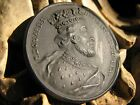 C.1780 RARE DOUBLE MEDALLION WEDGWOOD BASALT 18th CENTURY FROM DASSIER-KIRK