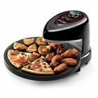 Rotating Oven Pizzazz Pizza Plus Countertop Baking Kitchen Cooker Maker Nonstick