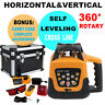 Self-Leveling Automatic 500m Red Beam Rotary Laser Level Kit + Goggles + Remote