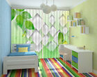Refreshing Green Leaves 3D Curtain Blockout Photo Printing Curtains Drape Fabric
