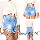 Women Vintage Ripped Denim Celeb Sexy Shorts Holiday Jeans High Waist Hot Pants