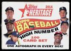 2014 Topps Heritage HIGH NUMBER 100 CARD SET Sealed Box Set (1 Auto)