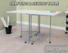 Large Folding Table Laundry Kids Craft Art Activity Wooden Cutting Fabric Desk