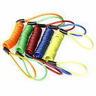 1x Motorcycle Bike Security Scooter Lock Spring Reminder Cable Random Color